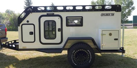 lightweight composite teardrop trailer built  camping  road overland  expedition