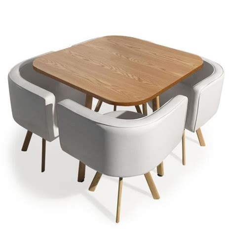 table et chaise design table avec chaise encastrable achat vente table avec
