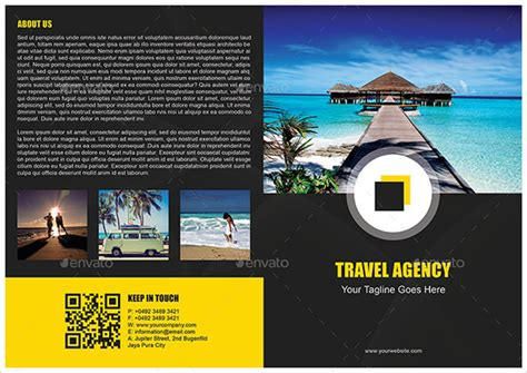 travel brochure templates  ai indesign ms