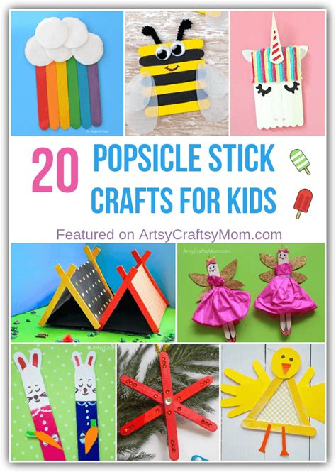 simple popsicle stick crafts  kids    play