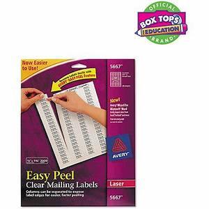 avery easy peel clear return address labels for laser With clear printed return address labels