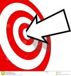 Bullseye Target with Arrow Clip Art