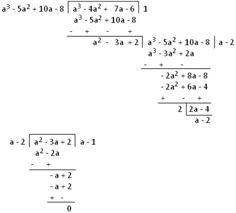 Hcf Of Polynomials By Long Division Method  Hcf By The Method Of Division