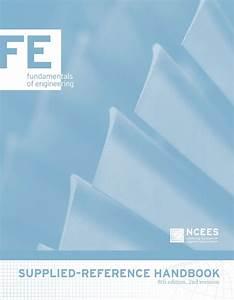 Ncees Fe Reference Handbook Pdf  U0026gt  Iatt