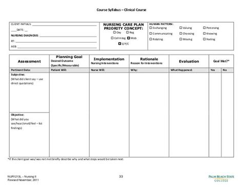Wound Care Plan Template by Blank Nursing Care Plan Templates Search