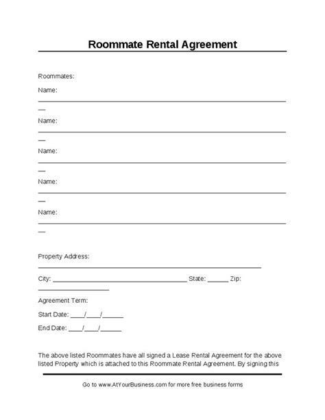 free room rental agreement template word printable sle room rental agreement template form real estate forms word