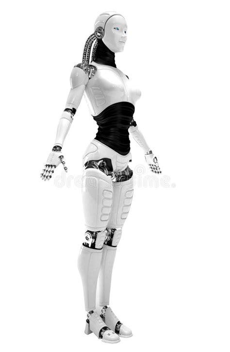Robot android women stock illustration. Illustration of