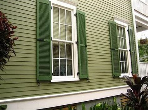 colonial homes green exterior house paint