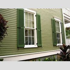 Colonial Victorian Homes, Green Exterior House Paint