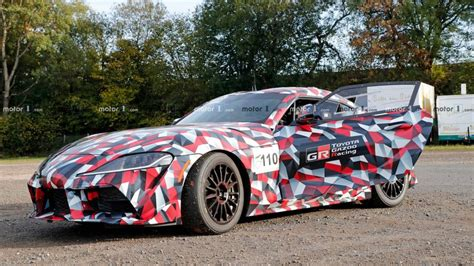 Hot Toyota Supra Gr Race-spec Spied On The Street