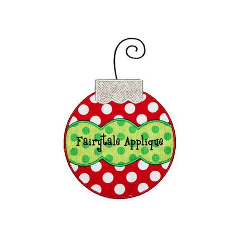 digital machine embroidery design christmas ornament
