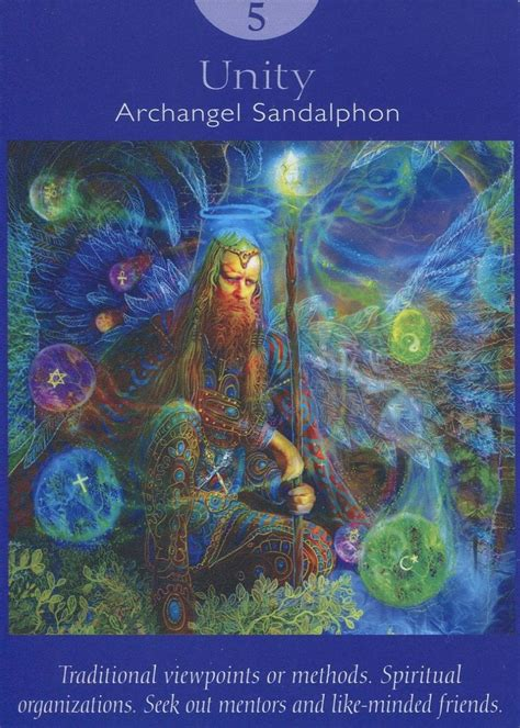 V The Hierophant (unity)  Archangel Sandalphon Angel