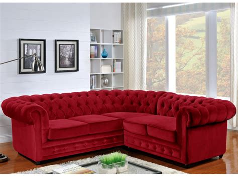 canape d angle velours canapé d 39 angle en velours chesterfield
