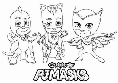 Pj Masks Coloring Pages Children Characters