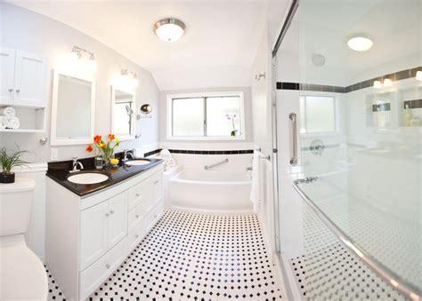 classic black white bathroom remodel traditional los