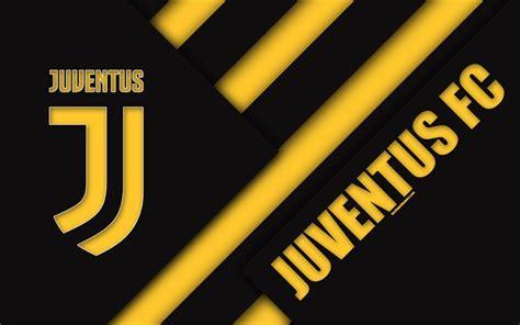Download wallpapers Juventus FC, 4k, material design, new ...