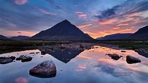 Download Wallpaper 1366x768 Magic Landscape, Mountain lake ...