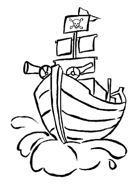 Pirate Ship Coloring Page by Ship Coloring Pages