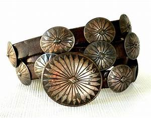 1930's Signed Navajo Sterling Concho Belt - from ...