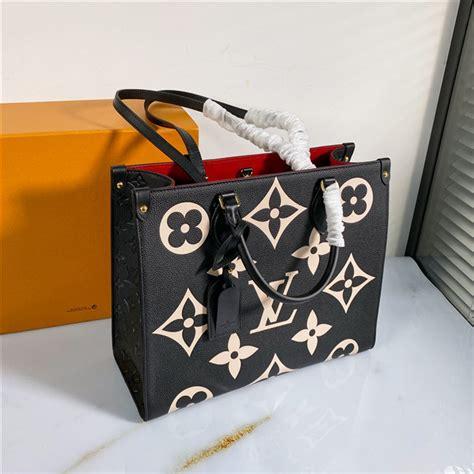 louis vuitton onthego mm monogram empreinte leather black aaa handbag