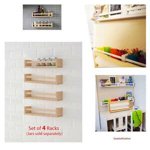 Ikea Spice Rack Book Storage by Ikea 4 Wall Shelves Bekvam Spice Rack Kitchen Storage Wood
