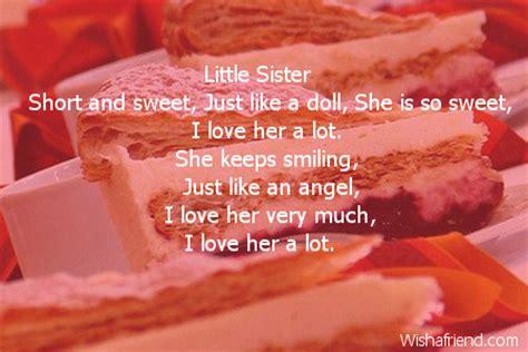 Short Valentine Poems For Sister