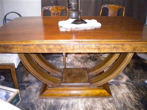 vintage walnut dining room set walnut dining room table u base and chairs for 8847