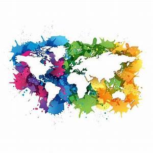 Papier Peint Planisphère : papier peint planisph re sur fond t ches pixers nous vivons pour changer ~ Teatrodelosmanantiales.com Idées de Décoration