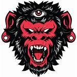 Monkey Demon Vector Shirt Tattoo King Illustration