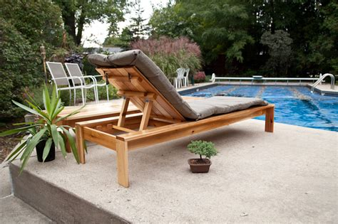 modern single outdoor chaise lounge ana white