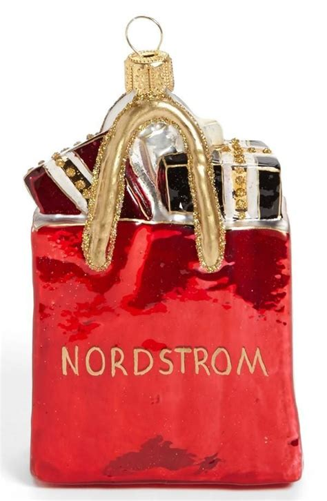 nordstrom shopping bag ornament holiday cheer