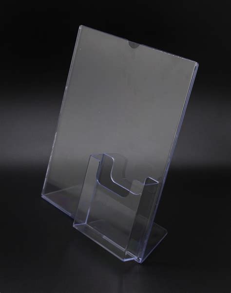8 5 x 11 acrylic sign holder for table tops 8 5 x 11 acrylic sign holder with pocket for 4 x 9
