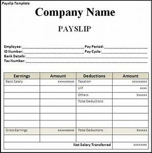 get employee pay slip template format projectmanagersinn With nsw payslip template