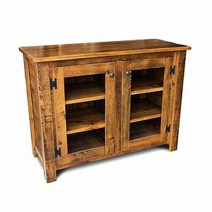 Unfinished wood bookcases with doors, rustic storage