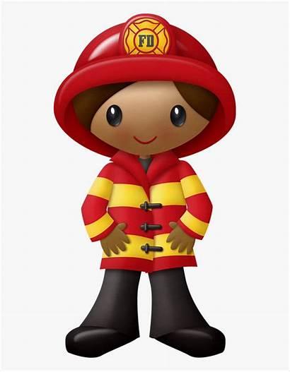 Firefighter Clipart Woman Fireman Fire Transparent Fighters