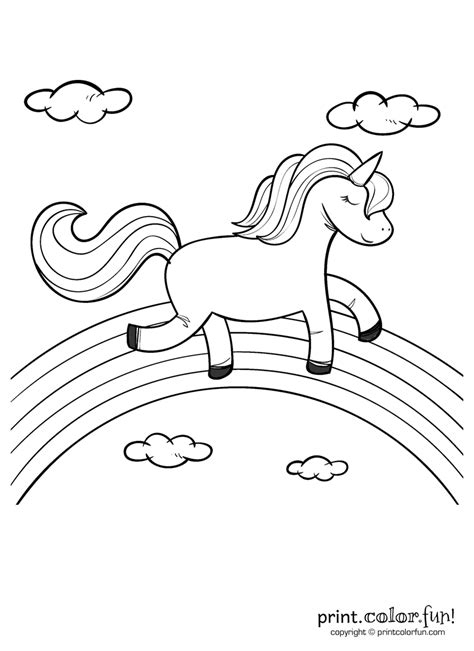 unicorn rainbow popular easy coloring pages  log wall