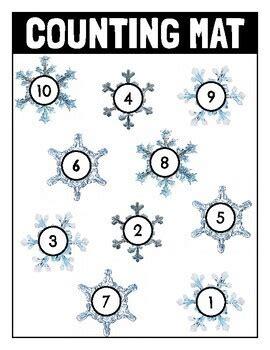 winter counting  addition math mats   connett