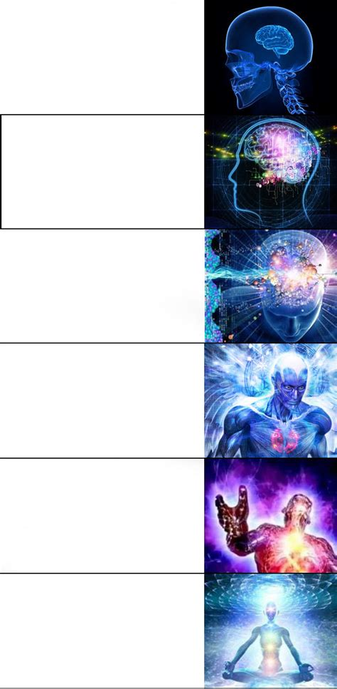Expanding Brain Meme Template Expanding Brain Meme 6 Levels Blank Template Imgflip