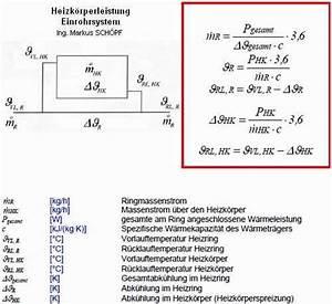 Heizkörperleistung Berechnen : einrohrsystem einrohrheizung ein besonderes system ~ Themetempest.com Abrechnung