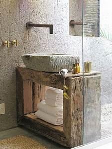 Plan Vasque Bois : plan vasque en bois vasque pierre ~ Teatrodelosmanantiales.com Idées de Décoration