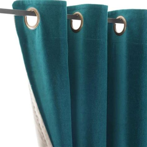 teinture canapé deco rideau bleu canard