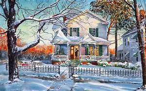 Christmas House Wallpaper and Background