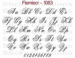 Fancy Script Alphabet Letters