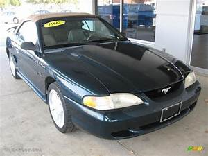 Deep Forest Green 1995 Ford Mustang
