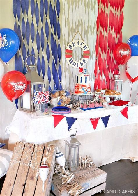 Ideas Nautical Theme by Nautical Birthday Ideas Great For A Kid S