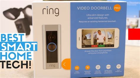 ring smart home best smart home tech for outdoors ring doorbell 2 pro ring floodlight