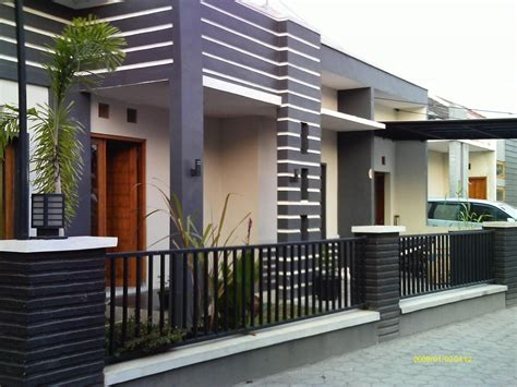 desain pagar rumah minimalis renovasi rumahnet
