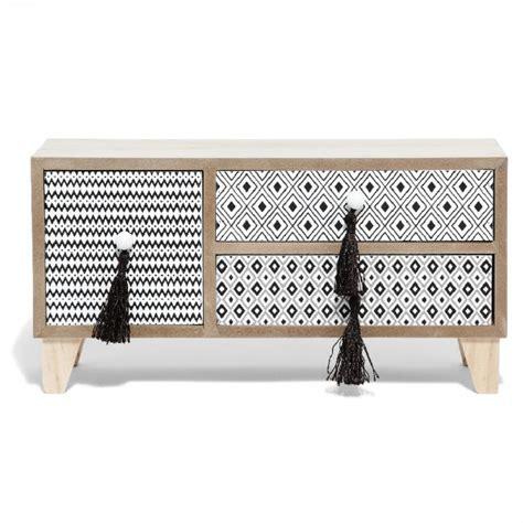 gifi bureau mini boîte de rangement bureau naturel motifs berbères