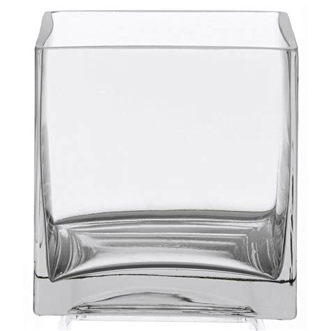 Square Vases by Clear Square Glass Vase Cube 6 Inch 6 Quot X 6 Quot X 6