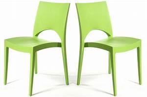 Chaise Scandinave Verte : lot de 2 chaises design vertes delhi design sur sofactory ~ Teatrodelosmanantiales.com Idées de Décoration